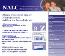 "Imagen de la página web ""The National Association Of Laryngectomee Clubs"""