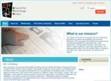Imagen de la página web de Alliance for Technology Access (Internet Archive)