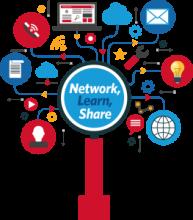 Ilustración del congreso ATIA 2018: Network, Learn