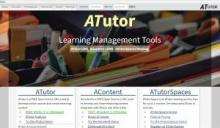 ATutor E-Learning's website image