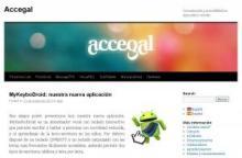 Imagen de la página principal de Accegal