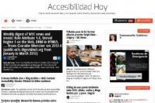 Imagen de la página principal de Accesibilidad Hoy