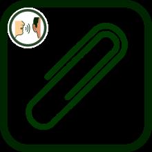 Icono de accesorios para dispositivos de comunicación aumentativa