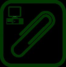 Icono de accesorios ordenador