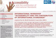Página Web de Accessibility and the contribution of International Standards