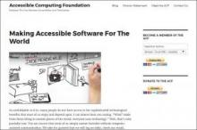 Accessible Computing Foundation website image