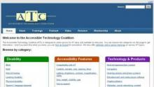 Imagen de la página Web de Accessible Technology Coalition