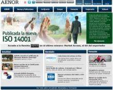 Aenor website image