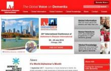 Imagen de la página web de Alzheimer's Disease International