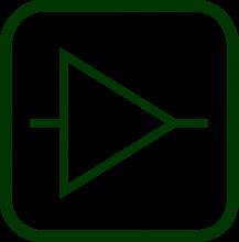 Imagen del símbolo eléctrico de amplificador