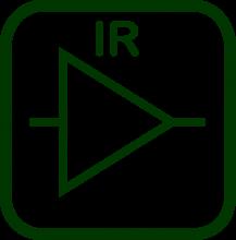 Icono de amplificador por infrarrojos