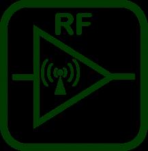 Icono de amplificador radiofrecuencia
