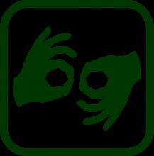 Icono de lengua de signos