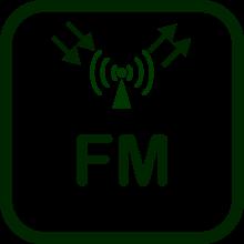 Icono de transmisor-receptor FM