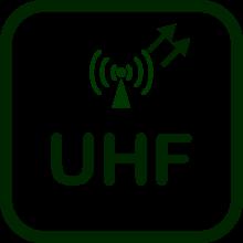 Icono de transmisor UHF
