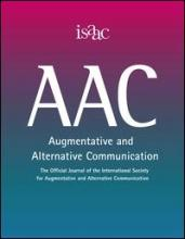 Imagen de la portada de la revista oficial de International Society for Augmentative and Alternative Communication (ISAAC)