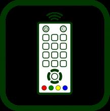 Icono de mando a distancia