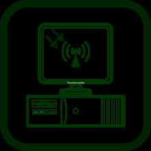 Icono de receptor de ordenador