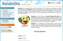 Imagen de la página Web de Balabolka
