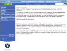 Imagen de la página Web del Cidat