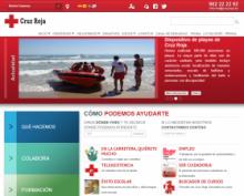 Imagen de la página web de Cruz Roja Española