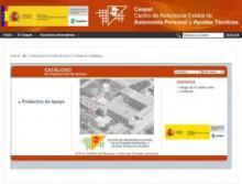 Imagen de la página web del Cátalogo del Ceapat