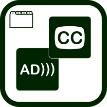 Closed captioning and audio description directory icon