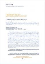 Imagen de la primera página de ¿Discapacidad o diversidad funcional?