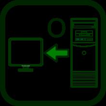 Icono de dispositivos de salida para ordenadores