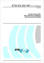 ETSI EG 202 487 cover image