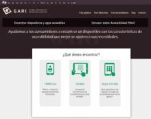 Imagen de la página web de GARI