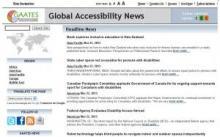 Imagen de la página principal de Global Accessibility News