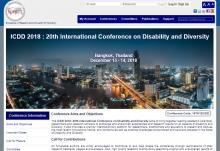 Imagen de la página web de ICDD 2018