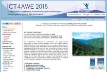 Imagen de la página web de ICT4AWE