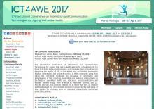 ICT4AWE 2017 website