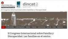 Imagen de la página del II Congreso Internacional sobre Familias y Discapacidad