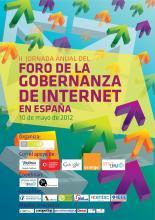 """Cartel de """"II JORNADA ANUAL DEL FORO DE LA GOBERNANZA DE INTERNET EN ESPAÑA"""""""
