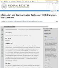 "Imagen de la portada de ""Information and Communication Technology (ICT) Standards and Guidelines"""