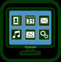 Icono de interfaz simplificada
