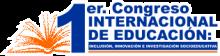 """Logotipo del """"1er Congreso Internacional de Educación"""""""