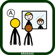 Speech therapy icon (Arasaac symbol)
