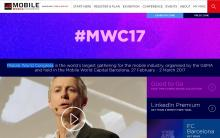 Mobile World Congress 2017 website image