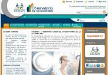 Imagen de la página principal del Observatorio de la Accesibilidad