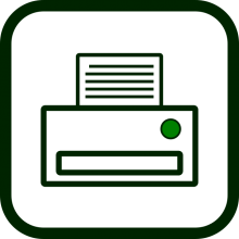 Office equipment icon