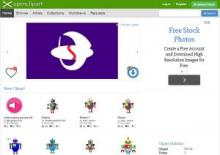 Open Clip Art Library website image