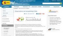 Imagen de la página principal del Observatorio de Accesibilidad del PAe