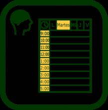 Icono de organizador de tareas