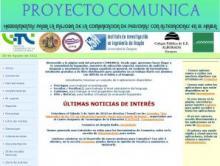 Página principal del proyecto Comunica