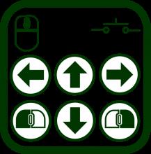 Icono de ratón de pulsador