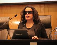 Imagen de la ponencia de Lourdes González Perea